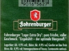 Fohrenburger Lager Extra-Dry ▶ Gallery 587 ▶ Image 1651 (Back Label • Контрэтикетка)