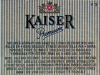 Kaiser Premium ▶ Gallery 1668 ▶ Image 5093 (Back Label • Контрэтикетка)