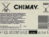 Chimay Tripel ▶ Gallery 1803 ▶ Image 5553 (Back Label • Контрэтикетка)