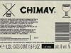 Chimay Tripel ▶ Gallery 1803 ▶ Image 5553 (Back Label • Контрэтикетка)