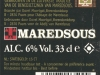 Maredsous Blonde ▶ Gallery 356 ▶ Image 836 (Back Label • Контрэтикетка)