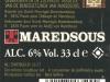 Maredsous Blonde ▶ Gallery 356 ▶ Image 836 (Back Label • Контрэтикетка)