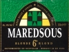 Maredsous Blonde ▶ Gallery 356 ▶ Image 845 (Label • Этикетка)
