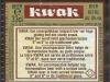 Pauwel Kwak ▶ Gallery 135 ▶ Image 290 (Back Label • Контрэтикетка)
