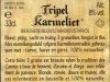 Tripel Karmeliet ▶ Gallery 348 ▶ Image 819 (Back Label • Контрэтикетка)