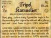 Tripel Karmeliet ▶ Gallery 348 ▶ Image 819 (Back Label • Контрэтикетка)