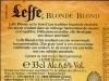 Leffe Blonde/Blond ▶ Gallery 1948 ▶ Image 6163 (Back Label • Контрэтикетка)