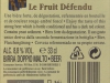 Le Fruit Défendu ▶ Gallery 374 ▶ Image 891 (Back Label • Контрэтикетка)