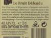 Le Fruit Défendu ▶ Gallery 374 ▶ Image 891 (Back Label • Контрэтикетка)