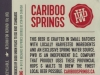 Cariboo Springs Lager ▶ Gallery 1386 ▶ Image 4019 (Back Label • Контрэтикетка)