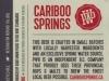 Cariboo Springs Lager ▶ Gallery 1386 ▶ Image 4019 (Back Label • Контрэтикетка)