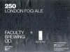 250 London Fog Ale ▶ Gallery 2719 ▶ Image 9236 (Label • Этикетка)