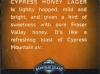 Cypress Honey Lager ▶ Gallery 513 ▶ Image 1412 (Back Label • Контрэтикетка)
