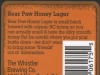 Bear Paw Honey Lager ▶ Gallery 514 ▶ Image 1478 (Back Label • Контрэтикетка)
