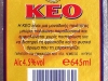 KEO ▶ Gallery 58 ▶ Image 859 (Back Label • Контрэтикетка)