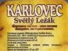 Karlovec Světlý Ležák ▶ Gallery 407 ▶ Image 4338 (Back Label • Контрэтикетка)