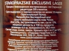 Staropražske Exclusive Lager ▶ Gallery 520 ▶ Image 1430 (Back Label • Контрэтикетка)