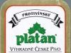 Protivínský Platan Prémiový Ležák ▶ Gallery 2396 ▶ Image 7994 (Back Label • Контрэтикетка)