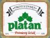 Protivínský Platan Prémiový Ležák ▶ Gallery 2396 ▶ Image 7995 (Label • Этикетка)