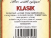 Radegast Klasik ▶ Gallery 2362 ▶ Image 7856 (Back Label • Контрэтикетка)