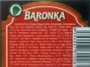 Baronka Premium ▶ Gallery 2434 ▶ Image 10415 (Back Label • Контрэтикетка)