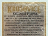 Krušovice Imperial ▶ Gallery 1811 ▶ Image 5581 (Back Label • Контрэтикетка)