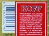 Koff Export ▶ Gallery 75 ▶ Image 9695 (Back Label • Контрэтикетка)