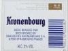 Kronenbourg ▶ Gallery 225 ▶ Image 7611 (Back Label • Контрэтикетка)