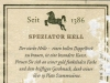 Riegele Speziator Hell & Stark ▶ Gallery 1996 ▶ Image 6740 (Back Label • Контрэтикетка)