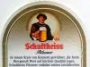 Schultheiss Pilsener ▶ Gallery 2091 ▶ Image 6696 (Back Label • Контрэтикетка)