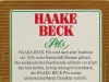 Haake-Beck Pils ▶ Gallery 2088 ▶ Image 6679 (Back Label • Контрэтикетка)