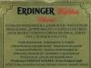 Erdinger Weißbier Pikantus ▶ Gallery 1816 ▶ Image 5661 (Back Label • Контрэтикетка)