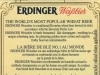 Erdinger Weißbier ▶ Gallery 1814 ▶ Image 5657 (Back Label • Контрэтикетка)