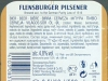 Flensburger Pilsener ▶ Gallery 563 ▶ Image 1554 (Back Label • Контрэтикетка)