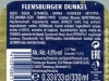 Flensburger Dunkel ▶ Gallery 2797 ▶ Image 9643 (Back Label • Контрэтикетка)