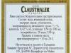 Clausthaler Classic Premium N-A ▶ Gallery 1299 ▶ Image 3748 (Back Label • Контрэтикетка)