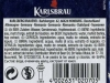 Karlsbräu ▶ Gallery 2761 ▶ Image 9440 (Back Label • Контрэтикетка)