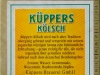 Küppers Kölsch ▶ Gallery 1841 ▶ Image 5682 (Back Label • Контрэтикетка)