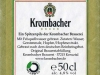 Krombacher Pils ▶ Gallery 2004 ▶ Image 6363 (Back Label • Контрэтикетка)