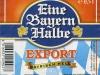 Eine Bayern Halbe Export Bayrisch Hell ▶ Gallery 2118 ▶ Image 6814 (Label • Этикетка)