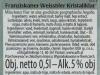 Franziskaner Weissbier Kristallklar ▶ Gallery 1767 ▶ Image 5447 (Back Label • Контрэтикетка)