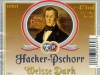 Hacker-Pschorr Weisse Dark ▶ Gallery 1587 ▶ Image 4780 (Label • Этикетка)