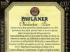 Paulaner Oktoberfest ▶ Gallery 2473 ▶ Image 8224 (Back Label • Контрэтикетка)