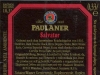 Paulaner Salvator Doppelbock ▶ Gallery 2524 ▶ Image 8437 (Back Label • Контрэтикетка)