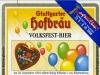 Stuttgarter Hofbräu Volkfest-Bier ▶ Gallery 2007 ▶ Image 6371 (Back Label • Контрэтикетка)