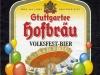 Stuttgarter Hofbräu Volkfest-Bier ▶ Gallery 2007 ▶ Image 6372 (Label • Этикетка)