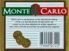 Monte Carlo Premium ▶ Gallery 1268 ▶ Image 3673 (Back Label • Контрэтикетка)