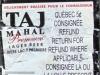 Taj Mahal Premium Lager ▶ Gallery 585 ▶ Image 1641 (Back Label • Контрэтикетка)