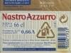Nastro Azzurro Premium Export Lager ▶ Gallery 409 ▶ Image 999 (Back Label • Контрэтикетка)