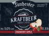 Tanheiser Kraftbeer Cranberry-Apple ▶ Gallery 2648 ▶ Image 8949 (Label • Этикетка)